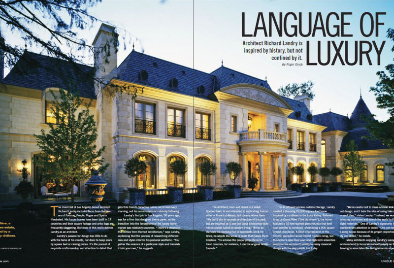 Wonderful Richard Landry Featured In Unique Homes Magazine